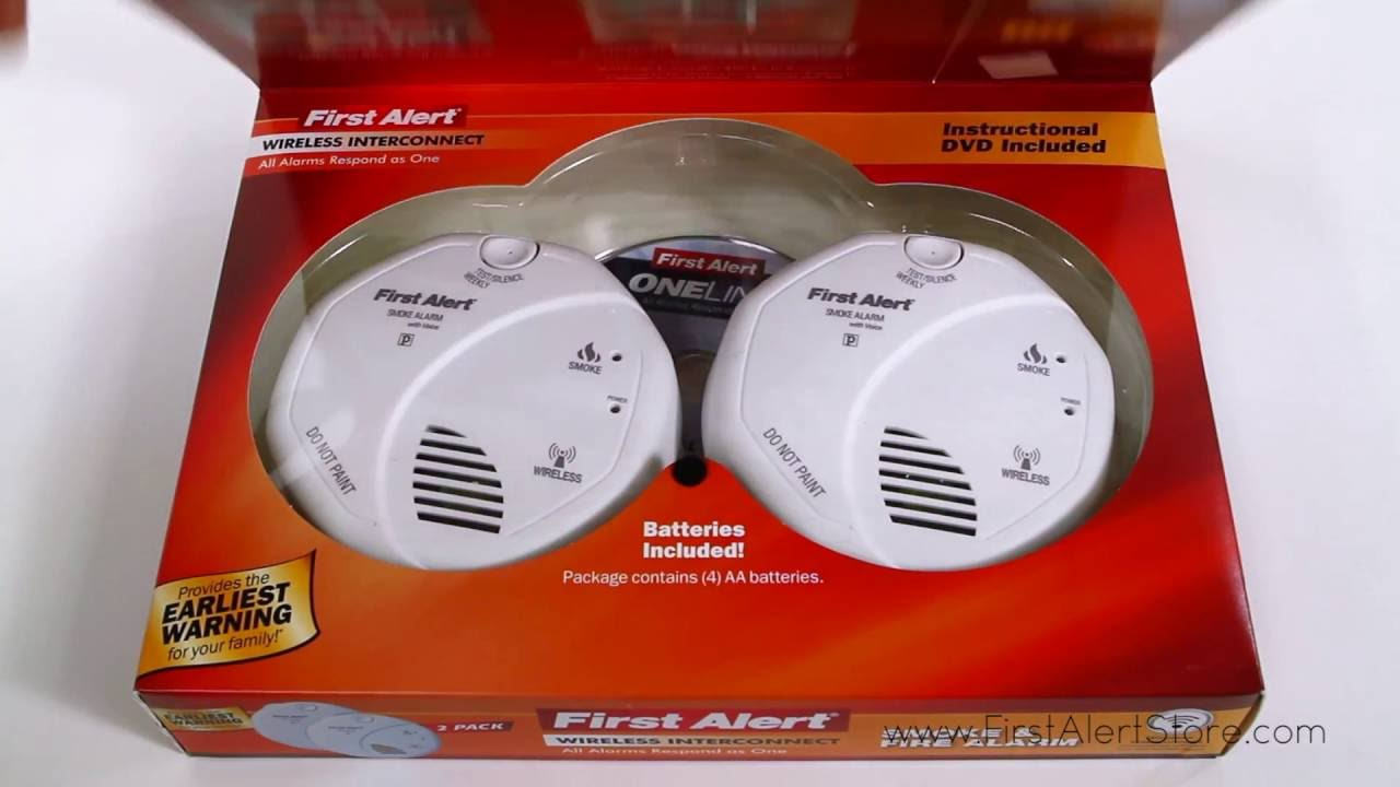 Smoke Alarm Detector Fire Battery Operated Wireless Inter Connectable 3-Pack