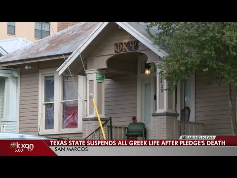 Texas State University fraternity pledge dies, prompting investigation