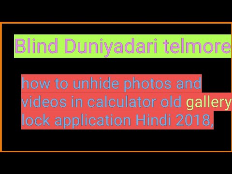 How to unhide videos and photos calculator vault gallery lock application  app