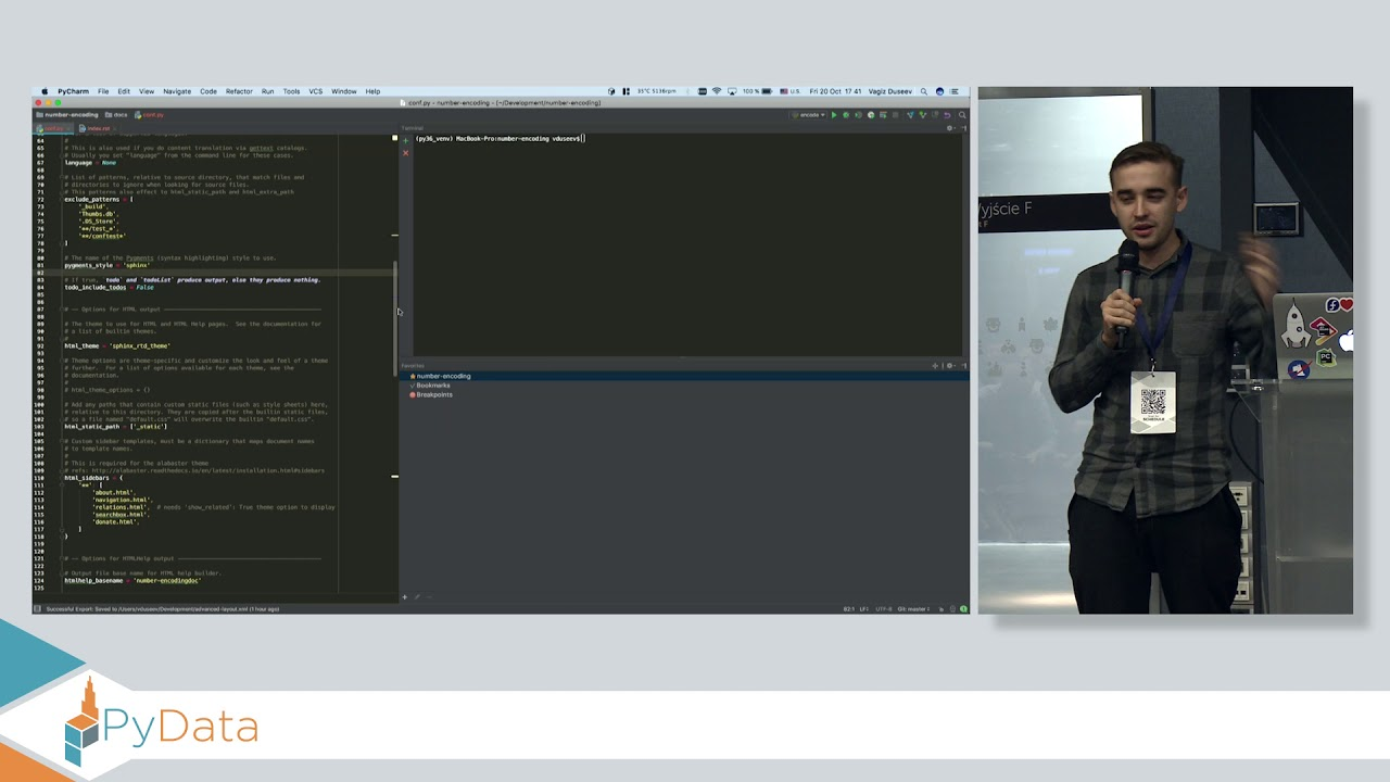 Image from Lightning Talk 4: Preserve window layout in PyCharm