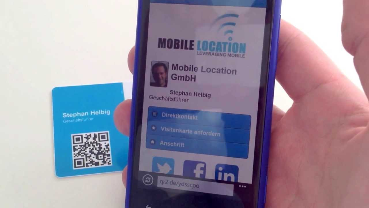 Smart Business Card Smarte Mobile Visitenkarte Mit Nfc Und Qr Code
