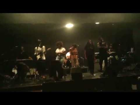 "Solange, Dev Hynes, King, Moses Sumney rehearse ""To Be Young Gifted and Black"" cover."