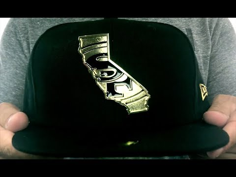 49ers  GOLD STATED METAL-BADGE  Black Fitted Hat by New Era - YouTube 9c8a01c0a38