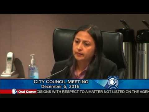 Cupertino City Council Dec 6, 2016 - Oral Comments