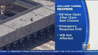 Holland Tunnel Eastbound Lanes Reopen