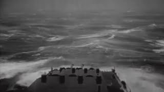 Repeat youtube video Typhoon Hits US Navy 3rd Fleet Ships at Sea Big Storm Giant Waves Extreme Damage WW2 Footage