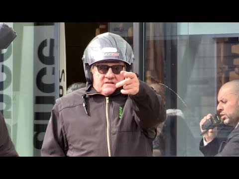 EXCLUSIVE : Gerard Depardieu and Christian Clavier at Radio France in Paris
