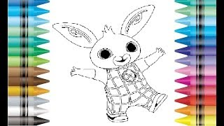 Bing Bunny Rabbit Cbeebies Coloring Colouring Pages Drawing Book For Kids Children and How to Draw