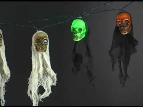 Lightshow Light String w/Sounds - Skulls
