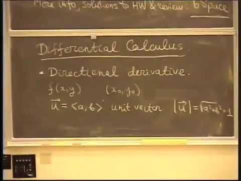 Lecture 17  Review for Midterm Exam 2 - MATH 53: Multivariable Calculus  with Edward Frenkel