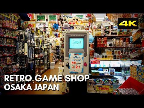 Japan 4K Walk - Retro Game Shop Tour - Nipponbashi Osaka