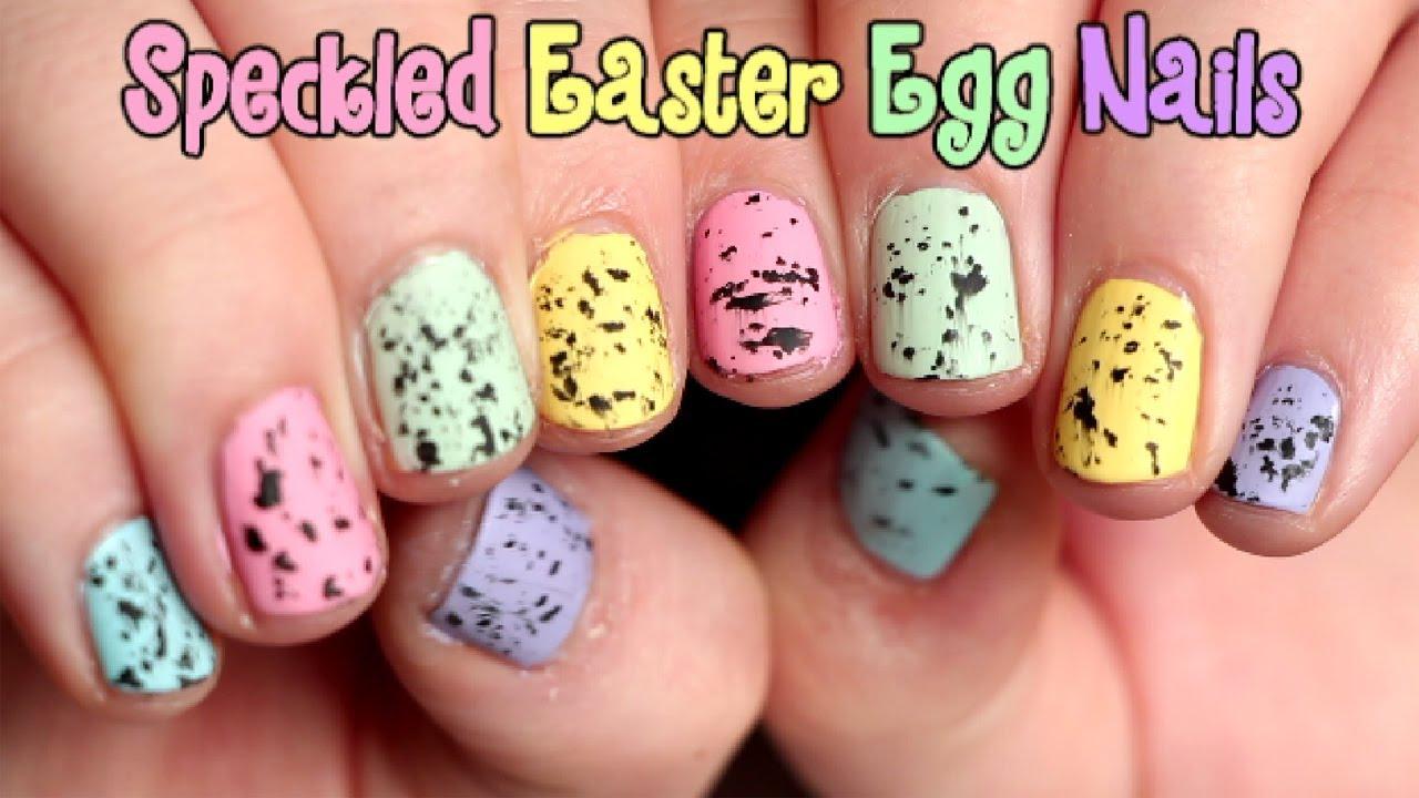 speckled easter egg nail art tutorial oliviamakeupchannel youtube