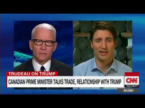 """Prime Minister Justin Trudeau-""""Canadian aluminum is in your fighter jets,steel is in your tanks."""