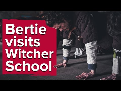 There's a real-life Witcher school in Poland. We sent Bertie.: Ever dreamed of being a Witcher? Turns out you can go to Poland and try living the life for yourself. Eurogamer's own Bertie went to undertake the trials, so we asked him a thing or two about what it means to become a Witcher.   Read more about Bertie's experience here: http://www.eurogamer.net/articles/2016-04-08-my-gruelling-weekend-at-witcher-school  Image used in thumbnail by Tomas Felcman (EXPit thru lens)  Subscribe to Eurogamer - http://www.youtube.com/subscription_center?add_user=eurogamer  For the latest video game reviews, news and analysis, check out http://www.eurogamer.net and don't forget to follow us on Twitter: http://twitter.com/eurogamer