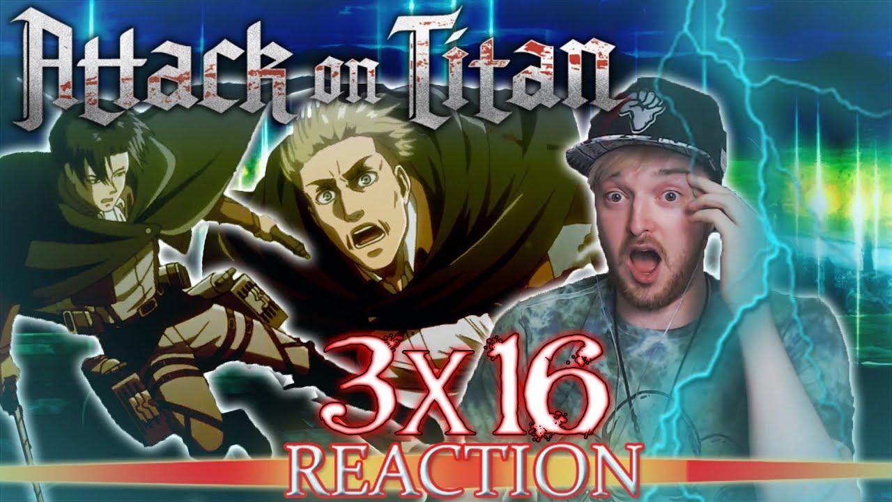 """Attack on Titan: Season 3 - Episode 16 REACTION """"Perfect Game"""" - YouTube"""