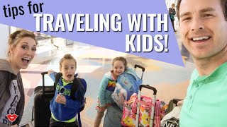 Tips For Traveling With Kids! | Jordan from Millennial Moms
