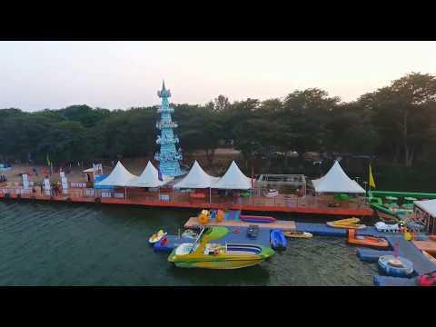 Bhavani Island Resort Villa Aerial Reception Event Shoot - Vijayawada