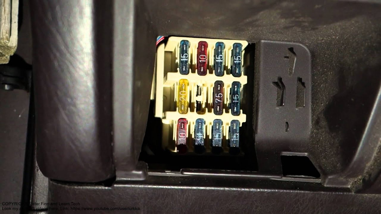 maxresdefault how to replace fuse side flasher lights toyota camry years 1992 ae101 fuse box at n-0.co