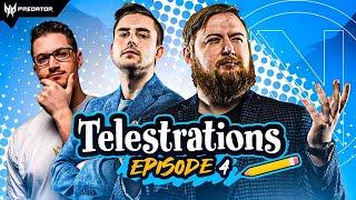 No Art Talent, Just Esports Talent | Telestrations ft. Jayne, Avast, Kaboose & Rambo Ray