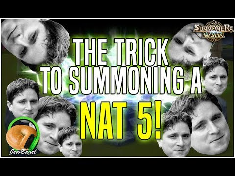 SUMMONERS WAR : The Trick to Summoning a Nat-5! :D :D :D