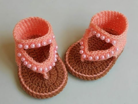 9778bf8705163f How to Crochet Baby Sandals Design - YouTube