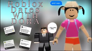 ROBLOX DARES WITH DORA! |subscribers pick my dares! W/ friends & fans | briiannaa