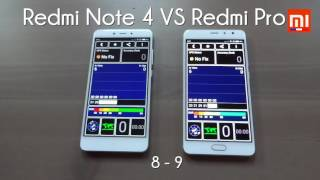 Test Xiaomi : Redmi Note 4 Vs Redmi Pro (MIUI 8 : Battery, Benchmark, Speed...)