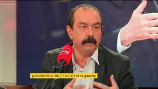 Philippe Martinez sur la CGT et Jean-Luc Mélenchon