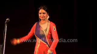 Indian classical dancer Sangeeta Majumder performs Kathak
