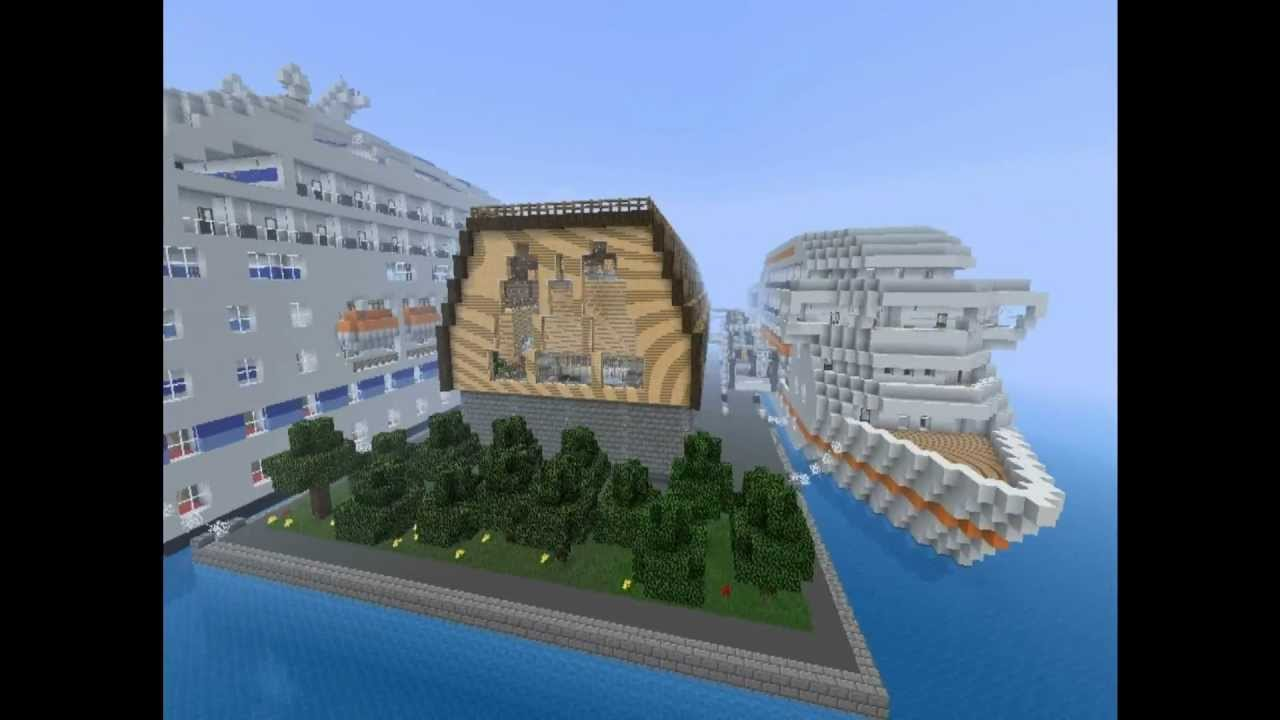 Minecraft Cruise Ship Terminal Tour Youtube