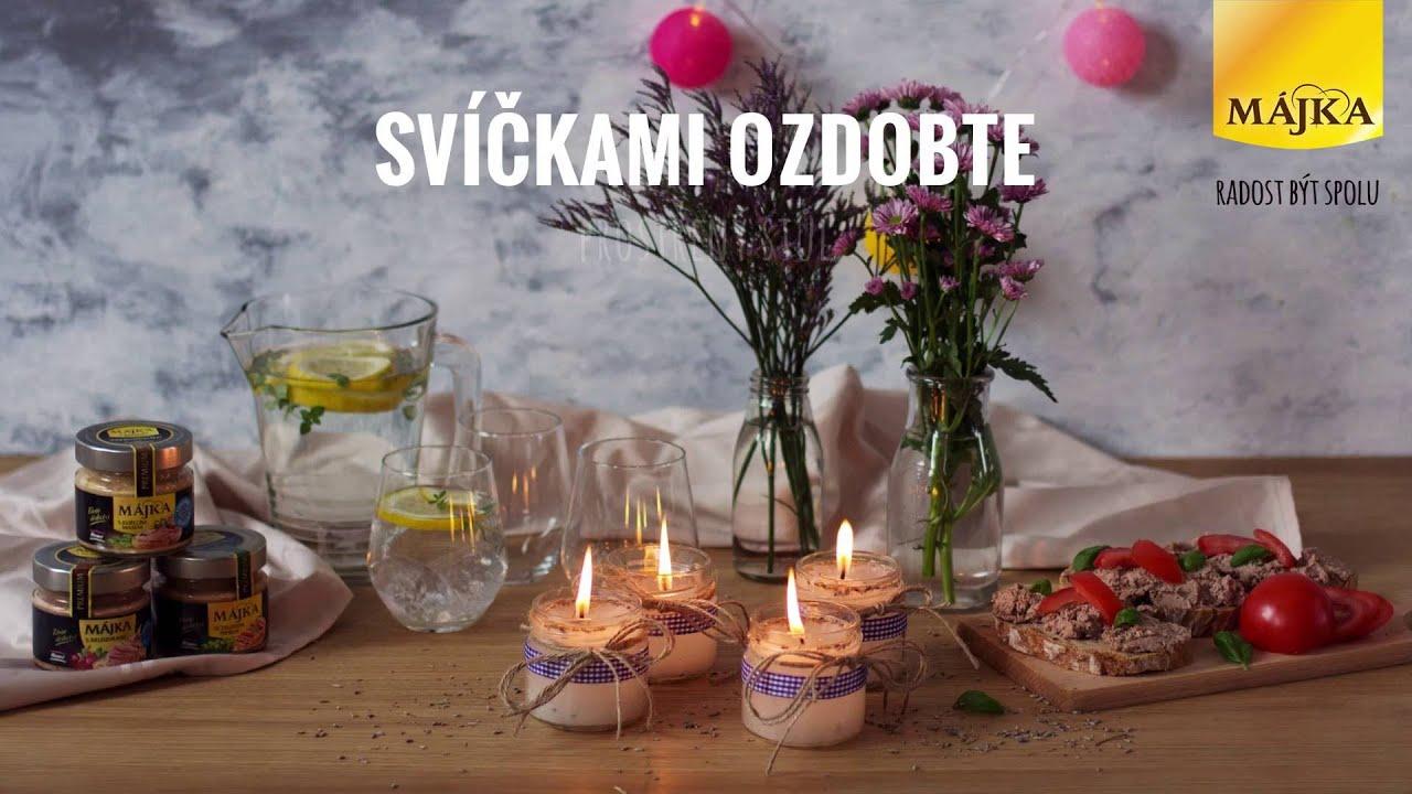 Levandulová svíčka ze sklenice od Májky - YouTube on