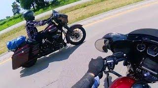 2,000 miles, 2 weeks experience, 2 brand new Harley-Davidsons
