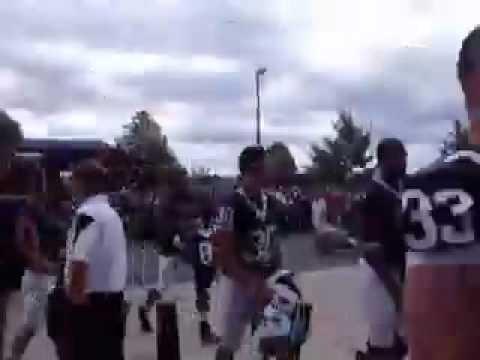 Penn State quarterback Robert Bolden steps off bus...