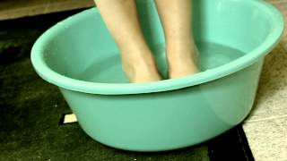 Quick pedicure - with natural ingredients