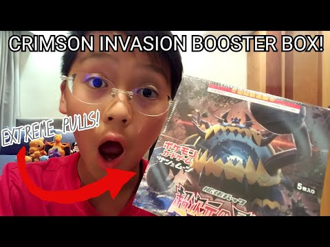 POKEMON CARDS||CRIMSON INVASION SM4A BOOSTER BOX OPENING!!!EXTREME PULLS!
