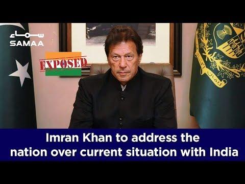 PM Imran Khan addressing nation after PAF's retaliatory action against IAF | SAMAA TV
