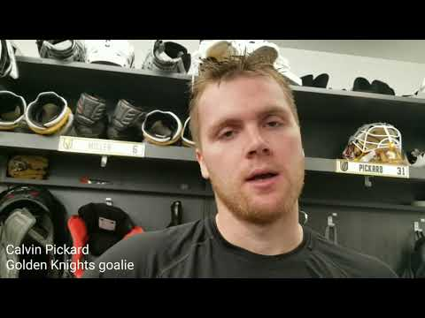 Golden Knights goaltender Calvin Pickard on days off