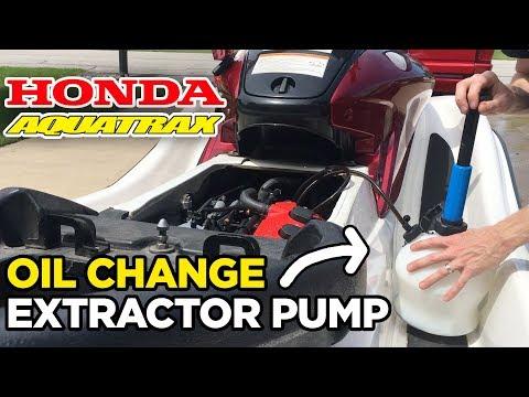 Honda Aquatrax Oil Change using an Extractor Pump