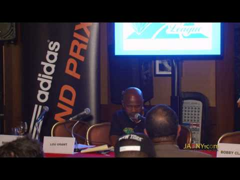 Irwine Clare Interviews Shelly-Ann Fraser-Pryce Re Adidas Grand Prix 2014