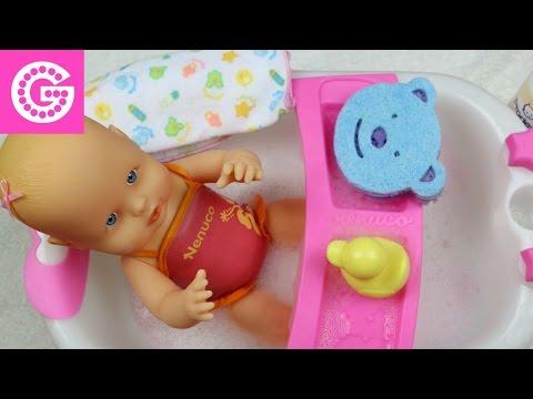 ★ Nenuco Baby Girl ★ Baby Doll Bathtime ★ Кукла Ненуко купается в ванночке ★