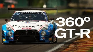 SPA FRANCORCHAMPS - AMAZING 360 DEGREE GT-R ONBOARD! #360VIDEO 2015 SPA 24 Hour #Spa24h VR thumbnail