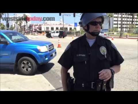 Bomb Squad On Ocean Ave. near Santa Monica Pier