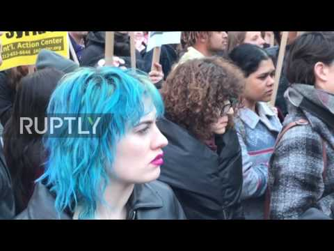 USA: Arrests made during NYC anti-war protest