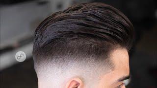 Como cortar cabello LARGO de hombre con un FADE - TUTORIAL