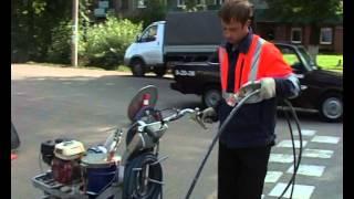 Торжок  Сюжет о нанесении дорожной разметке в городе(, 2014-09-08T12:44:44.000Z)