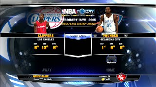 NBA 2K14 Oklahoma City Thunder vs Los Angeles Clippers ps3