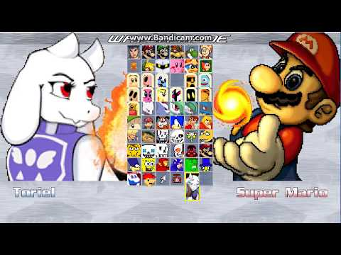 Mugen: Mega X`s Toriel character vs My other characters (CPU matches) (READ DESC)