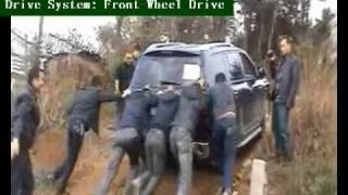 Toyota Highlander VS others (all front-wheel drive vehicles) on a 15°soil slope