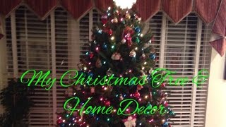Welcome back to my channel, in this video Bob and I welcome you into our home to see our Christmas Tree and some of our