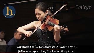Heifetz 2015:  Ji-Won Song & Carlos Avila   Sibelius: Violin Concerto